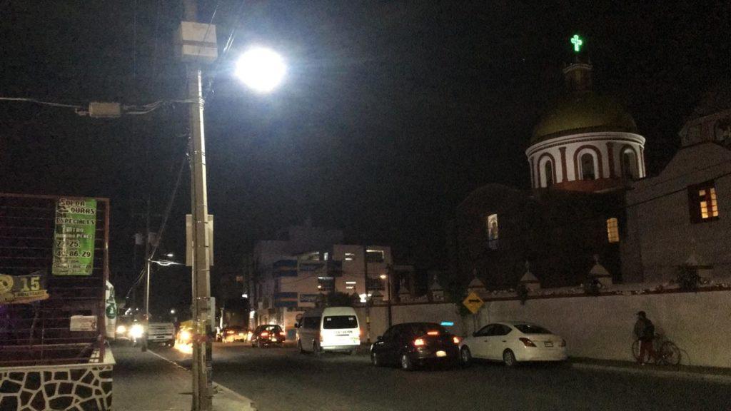 ILUMINA XICOHTZINCO MÁS DE 1KM CON LED