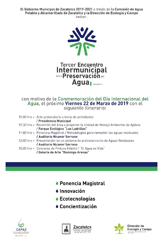 ALISTA CAPAZ Y ECOLOGÍA 3ER ENCUENTRO INTERMUNICIPAL DEL AGUA EN ZACATELCO