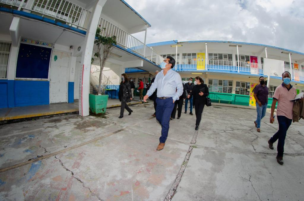 EL PRESIDENTE HILDEBERTO PEREZ ALVAREZ VISITA INSTITUCIONES EDUCATIVAS